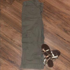 Cropped Khaki Pants